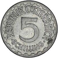 AUSTRIA coin 5 Schilling 1952 aUNC About Uncirculated condition