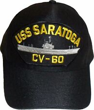 USS SARATOGA CV-60 US NAVY SHIP HAT OFFICIALLY LICENSED BALL CAP Made in USA