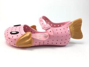 Mini Mellissa Toddler Girl Pink Fish Shoes Size 9 j8