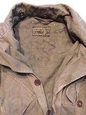 Vintage Military Jacket Borstomvang Manlengte