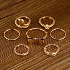 Delle donne/ragazze: 7 Pezzo - 12ct finitura oro antico Anello Impilabile Set