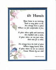 #33 Gift Poem Present For A Nana Grandmother 60th 70th 80th Birthday Gift