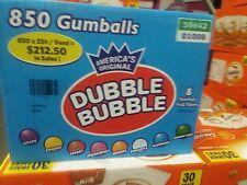 "Dubble Bubble 1"" Gumballs Vending Candy gumball 850 Assorted Fruit bulk double"