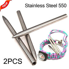 """2PCS 550 Paracord Fids Lacing Stitching Weaving Needles Stainless Steel 3"""" Best"""