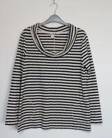 White Stuff Charlotte Cowl Neck Jersey Striped Top - Size 8 - 22