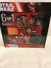 STAR WARS 6 in 1 GAMES DOMINOES, BINGO, BATTLE MATCHING, more NEW
