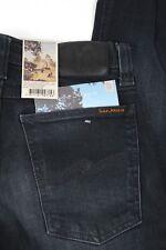 NEW Nudie Jeans Tight Long John Size 26 Organic Black Grey Skinny Leg Men's