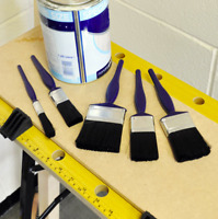"""5 Piece Paint Brush Set For All Paint Types Sizes 0.5"""", 1"""", 1.5"""", 2"""", 2.5"""""""