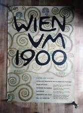 WIEN UM 1900 Original Exhibition Poster Secessionist Art Design Hermann Kosel