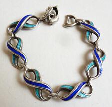 Superbe bracelet OTTANIAM en argent + émail signé Bijou bracelet silver