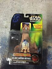 Star wars poder de la fuerza electrónica F/X R2-D2 peonías detoo en tarjeta