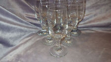 Clear Glass Wine Glasses Twisted Stem by  Pasabahce Glass Company 6 8os glasses