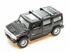 Kinsmart 2008 Hummer H2 SUV (Black) Die Cast Metal 1:40 Collectable Car