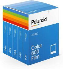 Polaroid 600 Film Color Sofortbildfilm 5er Pack (40 Aufnahmen)
