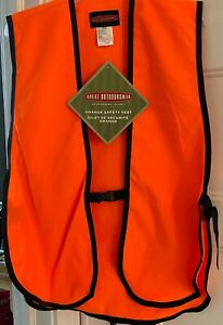 Great Outdoors Polyester Orange Hunting Safety Vest One Size High Visibility