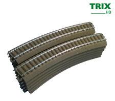 Trix 62130 Gebogenes Gleis R1, 360 mm (12 Stück, Vollkreis ohne OVP) +++ NEUWARE