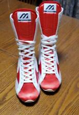USED Mizuno Boxing Shoes Mid Red × White made in JAPAN F/S from JPN 24.5cm MINT