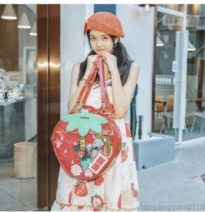 Japanese Style Cute lolita Bag Strawberry Transparent Crossbody Handbag Backpack