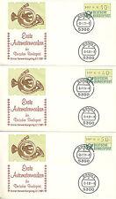 République Fédérale timbres de Distributeur Automatique 1.1 HU FDC1 (A) Me 32