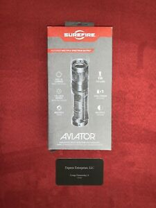 SureFire AVIATOR-RD Flashlight  Dual Output LED White+Red NEW IN BOX MSRP $299