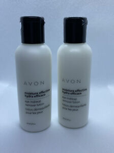 Lot Of 2 New Avon Moisture Effective Eye Makeup Remover Lotion 2 Fl Oz Each