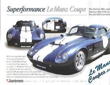 LE MANS COUPES LTD.SUPERFORMANCE  KIT CAR SALES 'BROCHURE' SHEET