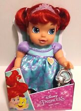 "NEW Disney Princess Baby Ariel 12"" Doll Holds Rattle 2016 Jakks"