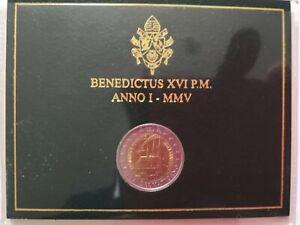 CITTA' DEL VATICANO MONETA COMMEMORATIVA 2 EURO 2005 FDC GIORNATA GIOVENTU'