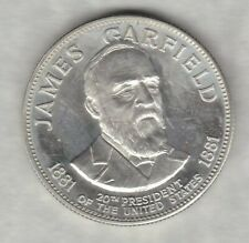 More details for franklin mint james garfield 20th president usa one ounce silver medal.