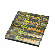 5 X Flavoured Slim Kingsize 110MM Rolling Papers Leaves Pasttern