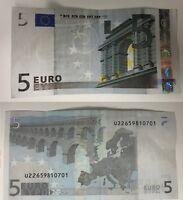 BANCONOTA DA 5 EURO UNC TRICHET Rarità ASSOLUTA MOLTO RARA rarissima COLLEZIONE
