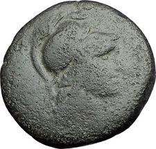 PERGAMON in MYSIA 133BC Athena Trophy Helmet Authentic Ancient Greek Coin i61151