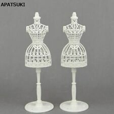 2sets/lot 1/6 Doll Accessories Display Holder Dress Clothes Gown Mannequin Model