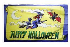 Drapeau Happy Halloween jaune  90x150cm drapeaux Qualité Top