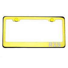 Gold Chrome License Plate Frame R35 Laser Etched Metal Screw Cap