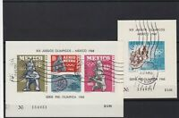 mexico  1965 olympics used stamps sheets ref r12606