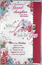 To A Wonderful Granddaughter Birthday Large 7 Pages of verse book -Birthday Card
