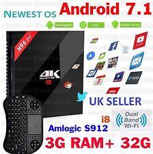 3GB/32G H96 Pro+ Android 7.1 TV BOX Amlogic S912 Octa Core 4K KODI 17, i8