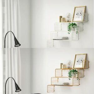 *New* SVENSHULT Wall shelf  Gold-colour & White 60 x 20 cm *Brand IKEA*