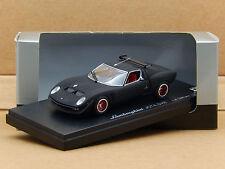 1/43 Lamborghini Miura Jota SVR Matt Black Kyosho Diecast Scale Model 03201MBK