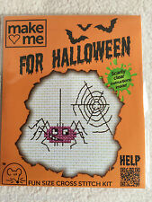 MOUSELOFT CROSS STITCH KIT ~  MAKE ME FOR HALLOWEEN ~ SPIDER ~ NEW