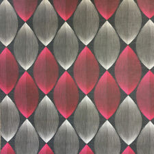 RETRO WALLPAPER BLACK RED GREY SYMMETRY 70s WALLPAPER A.S.CREATION 34067-4