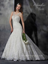 NEW Karelina Sposa Marys Bridal Gown C8043 Mermaid Lace Wedding Dress Ivory Sz16