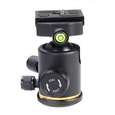 "12Kg Metal Swivel DSLR Camera Tripod Ball Head+1/4"" Mount Quick Release Plate QR"