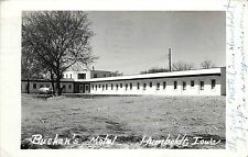 c1950 Vintage Real Photo Postcard; Buchan's Motel, Humboldt IA Posted
