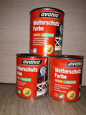 16?/L Avania Wetterschutz-Farbe Deckfarbe Holzfarbe innen & außen 0,75L (f37)