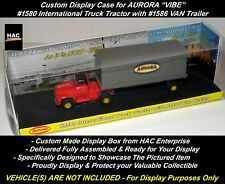 Custom Display Case: AURORA #1580 SEMI TRACTOR & #1586 VAN Trailer  * NEW BOX *