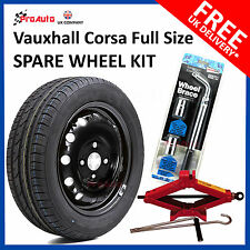 "VAUXHALL CORSA E 2015-2017 16"" FULL SIZE STEEL SPARE WHEEL AND TYRE + TOOL KIT"