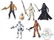 "Star Wars Force Awakens Episode 7 6"" Black Wave 1 Set of 5 Hasbro"