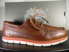 Timberland Men's Classic 3-Eye  Harborside Boat Shoe Lite Brown oil 10 M/M US